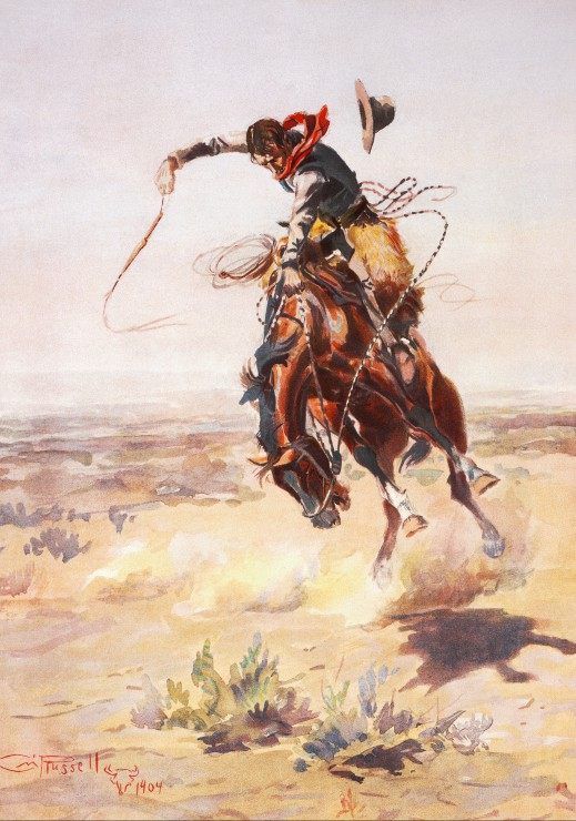 Puzzle Charles Marion Russell : A bad Hoss, 1904 Grafika