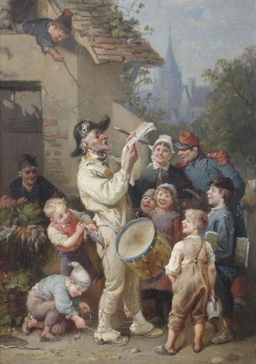 Puzzle François-Louis Lanfant de Metz : Un Crieur Public taquiné par des Enfa