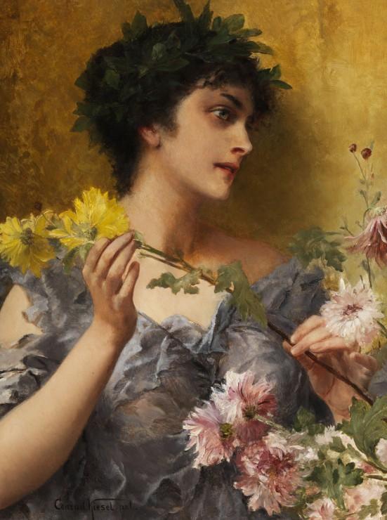 Puzzle Conrad Kiesel : Tribut an die Blumen, 1921 Grafika
