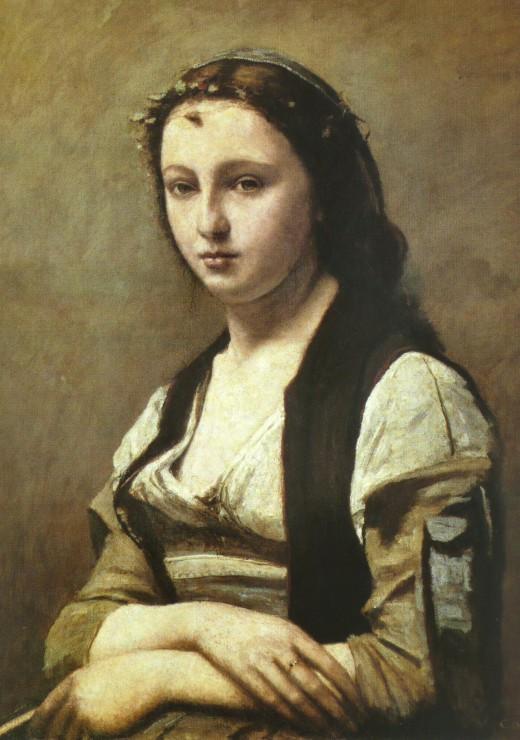 Puzzle Jean-Baptiste Camille Corot : La Femme à la Perle, 1869