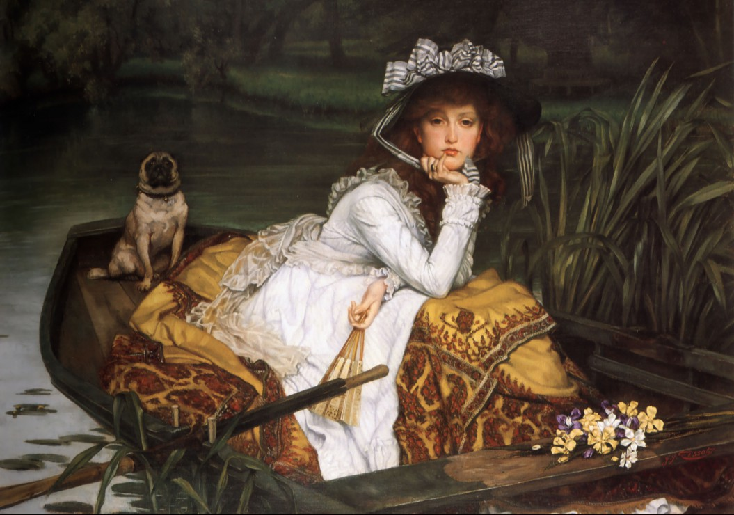 Puzzle James Tissot : Young Lady in a Boat Grafika