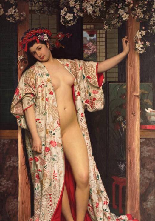 Puzzle 1000 pièces James Tissot : La japonaise au Bain, 1864