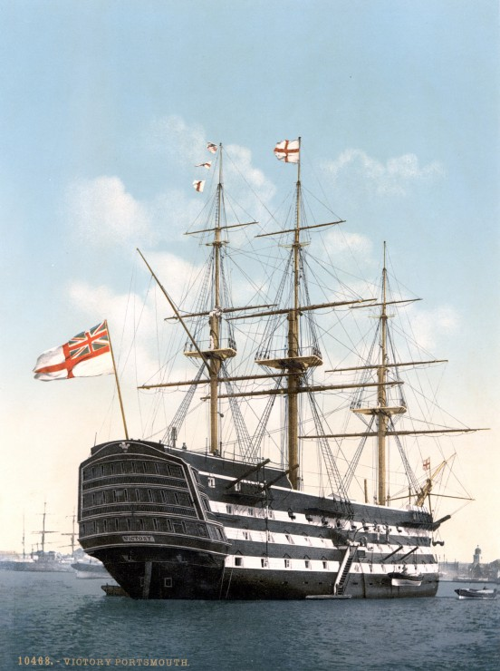 Puzzle HMS Victory in Portsmouth, 1900 Grafika