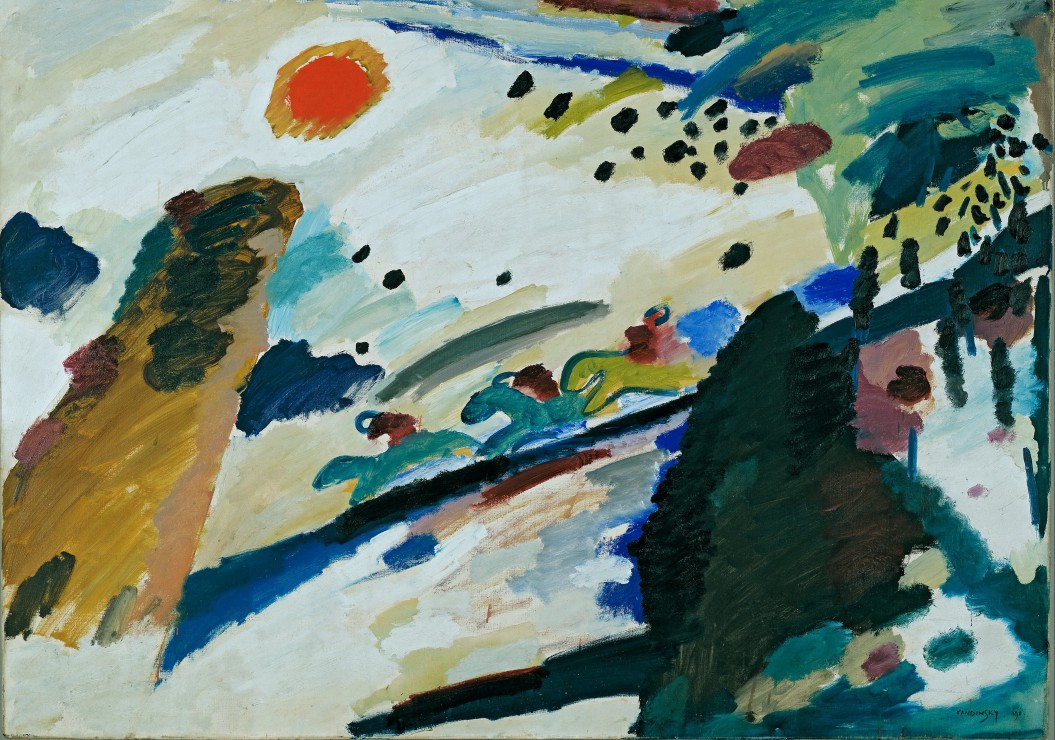 Puzzle Wassily Kandinsky - Romantic Landscape, 1911 Grafika
