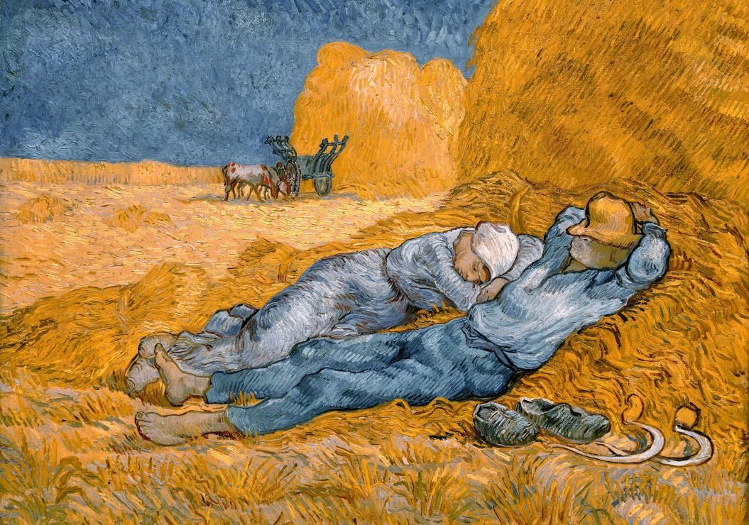 Puzzle Van Gogh Vincent : La Sieste (d´après Millet), 1890 Grafika