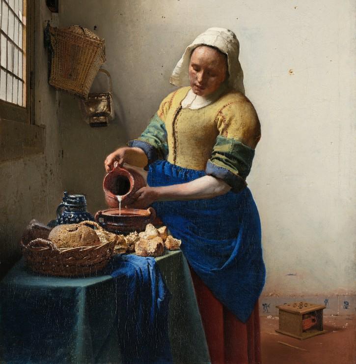 Puzzle Vermeer Johannes : La Laitière, 1658-1661 Grafika