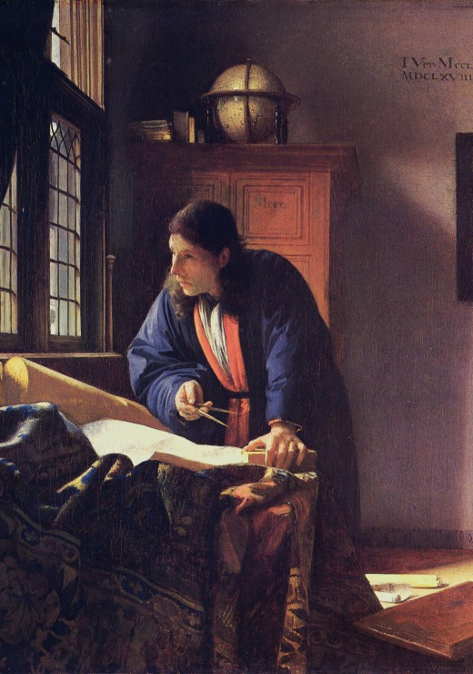 Puzzle Vermeer Johannes: Le Géographe, 1668-1669 Grafika