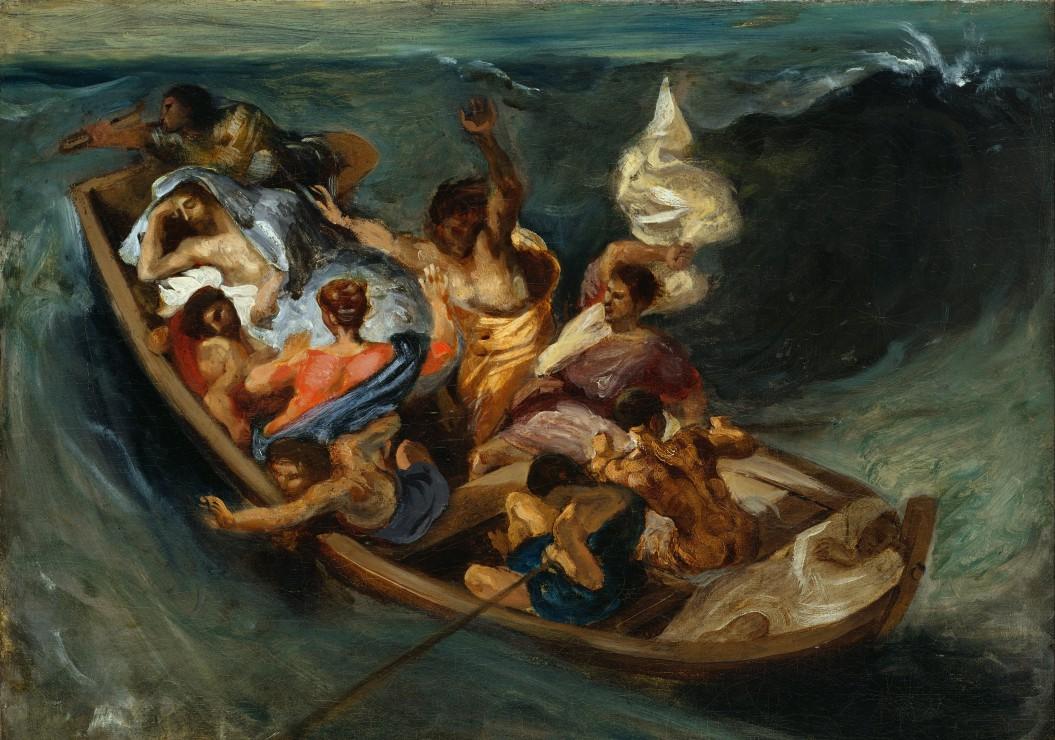 Puzzle Delacroix Eugène : Christ sur la Mer de Galilée, 1841