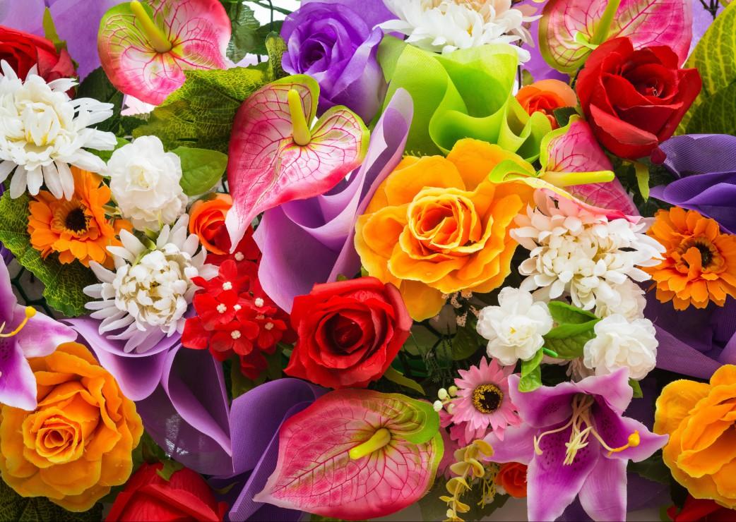 Puzzle Bouquet de Fleurs Artificielles Grafika