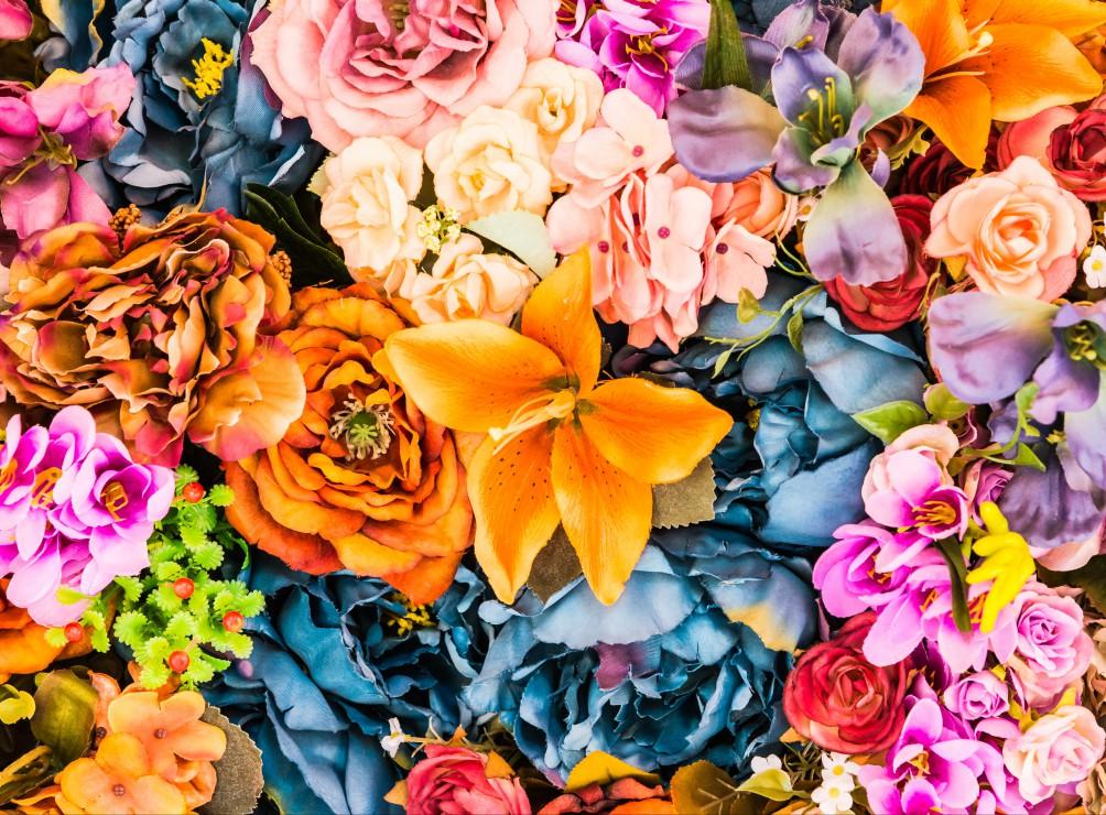 Puzzle Bouquet Vintage de Fleurs Artificielles Grafika