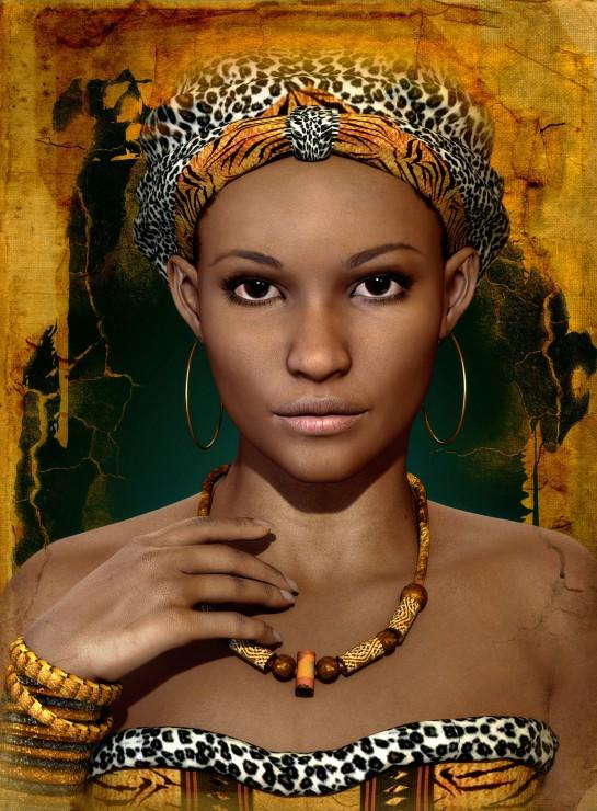 Puzzle Femme Africaine Grafika