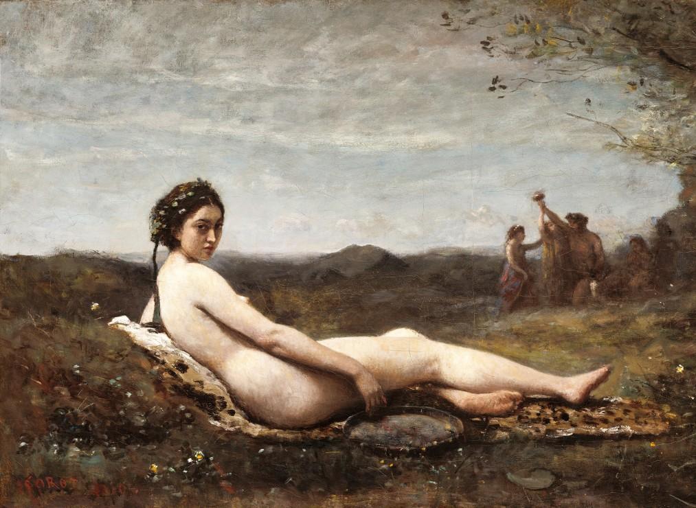 Puzzle Jean-Baptiste-Camille Corot : Repose, 1860 Grafika