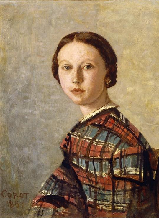 Puzzle Jean-Baptiste-Camille Corot : Portrait de Jeune Fille, 1859