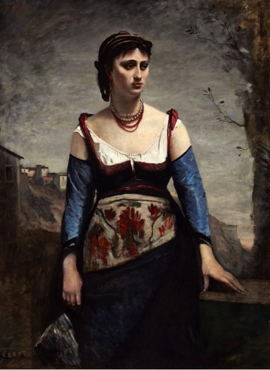 Puzzle Jean-Baptiste-Camille Corot : Agostina, 1866 Grafika