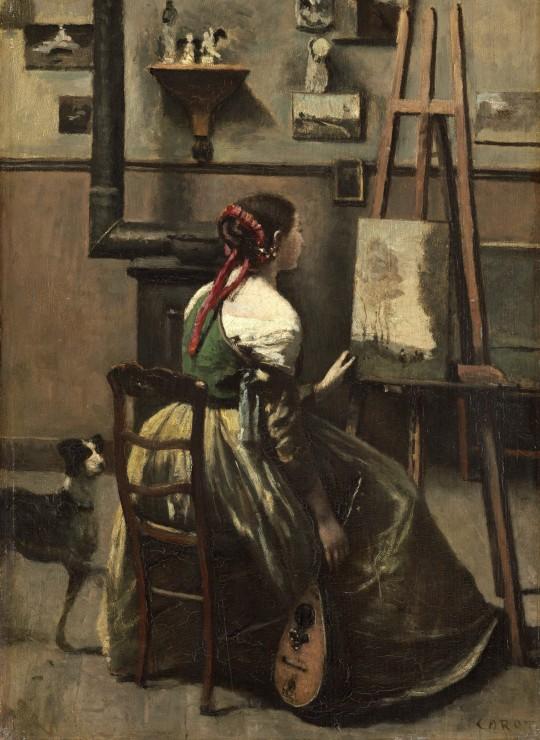 Puzzle Jean-Baptiste-Camille Corot : Atelier de l´Artiste, 1868