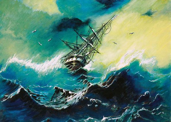 Puzzle Tempête en Mer Art Puzzle