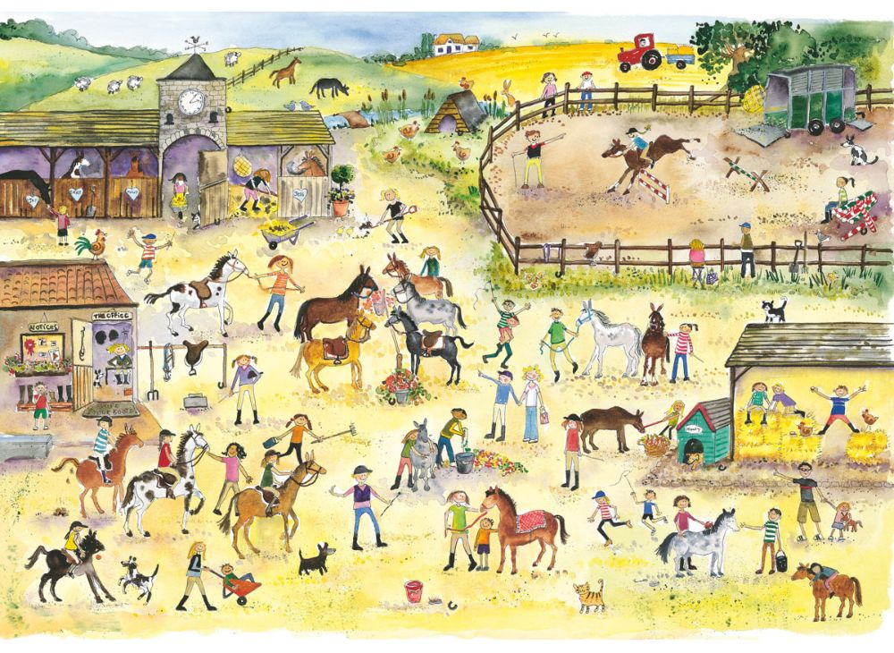 Puzzle en Bois - Julia Rigby : Riding Stables Wentworth