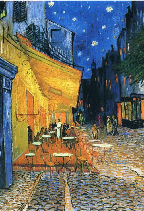 Puzzle Pièces XXL - Vincent Van Gogh : Terrasse de Café sur la Place du Forum