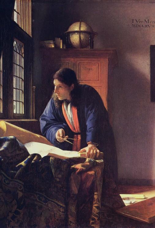 Puzzle Pièces XXL - Vermeer Johannes: Le Géographe, 1668-1669