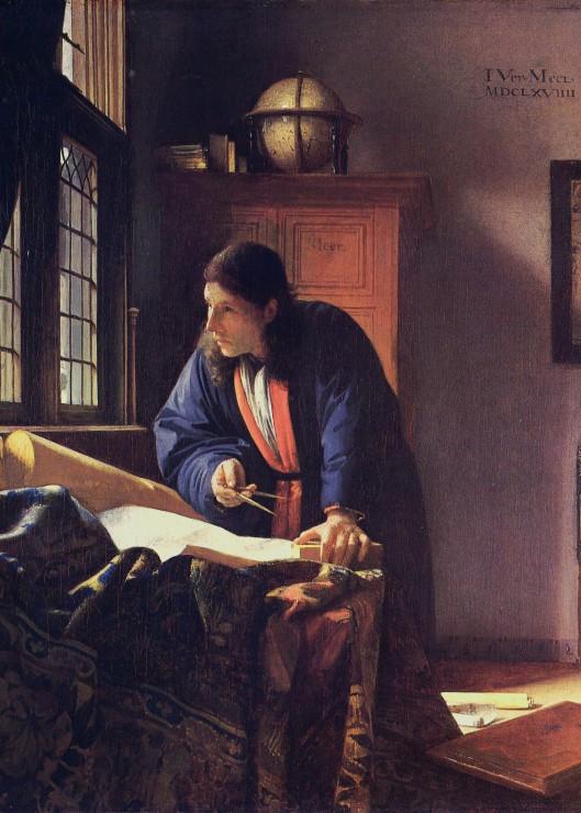 Puzzle Pièces Magnétiques - Vermeer Johannes: Le Géographe, 1668-1669