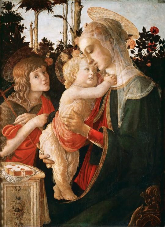 Puzzle Sandro Botticelli: La Vierge à l´Enfant, le Jeune Saint Jean-Baptiste,