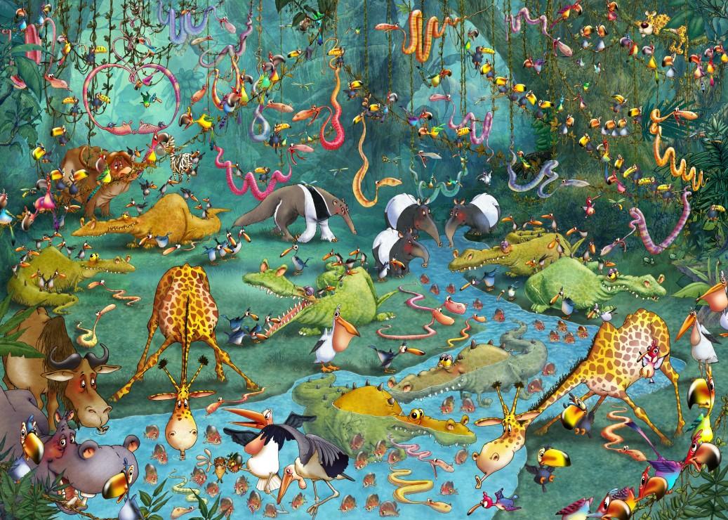 Puzzle Pièces magnétiques - François Ruyer : La Jungle Grafika Kids