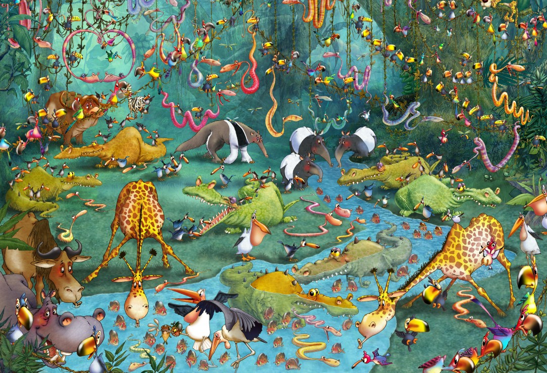 Puzzle Pièces XXL - François Ruyer : La Jungle Grafika Kids