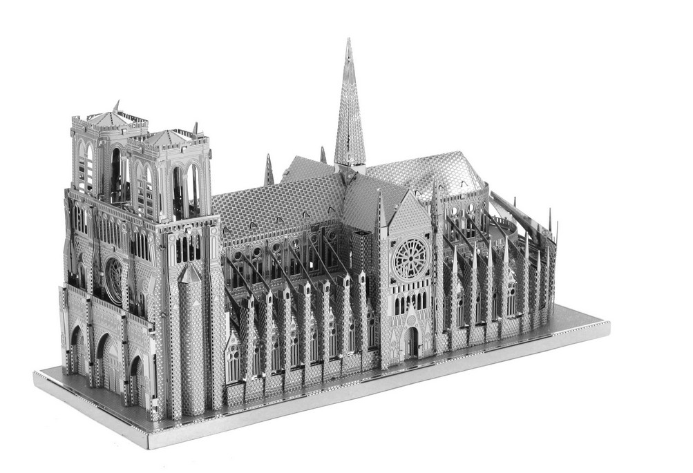 Puzzle 3D en métal - Notre Dame de Paris Metal Earth - Iconx