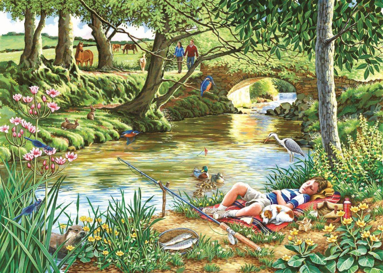 Puzzle Pièces XXL - Gone Fishing The House of Puzzles