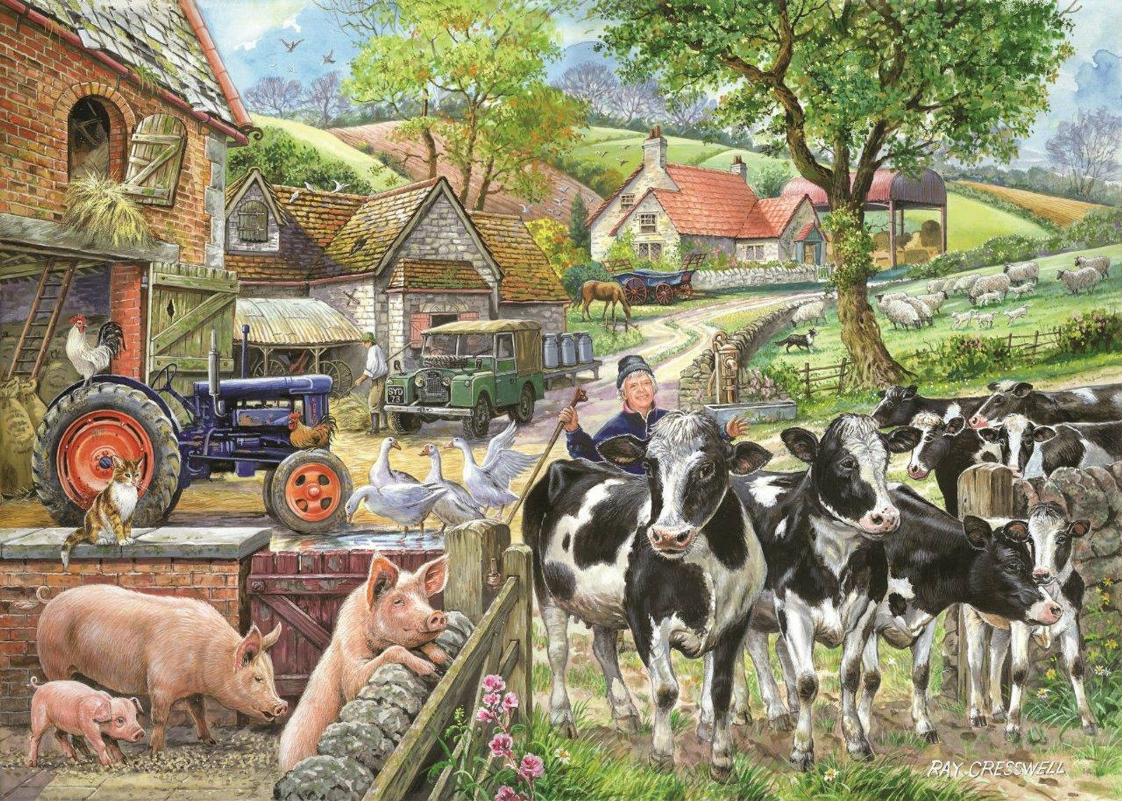 Puzzle Pièces XXL - Oak Tree Farm The House of Puzzles