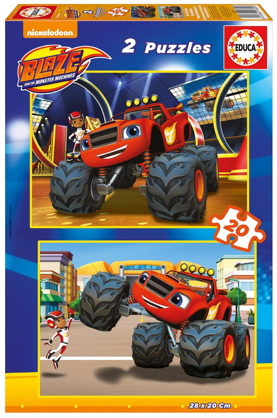 2 Puzzles - Blaze and The Monster Machines Educa