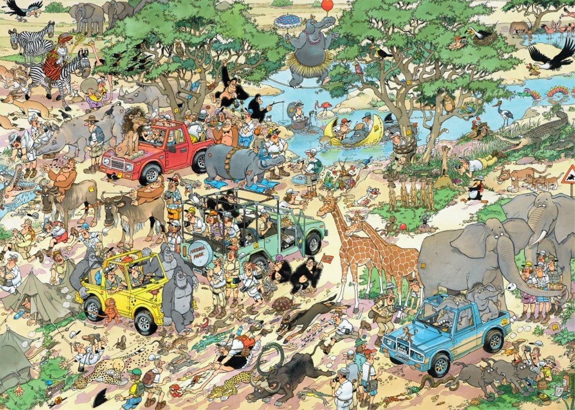 2 Puzzles Jan Van Haasteren : Safari & Tempête Jumbo
