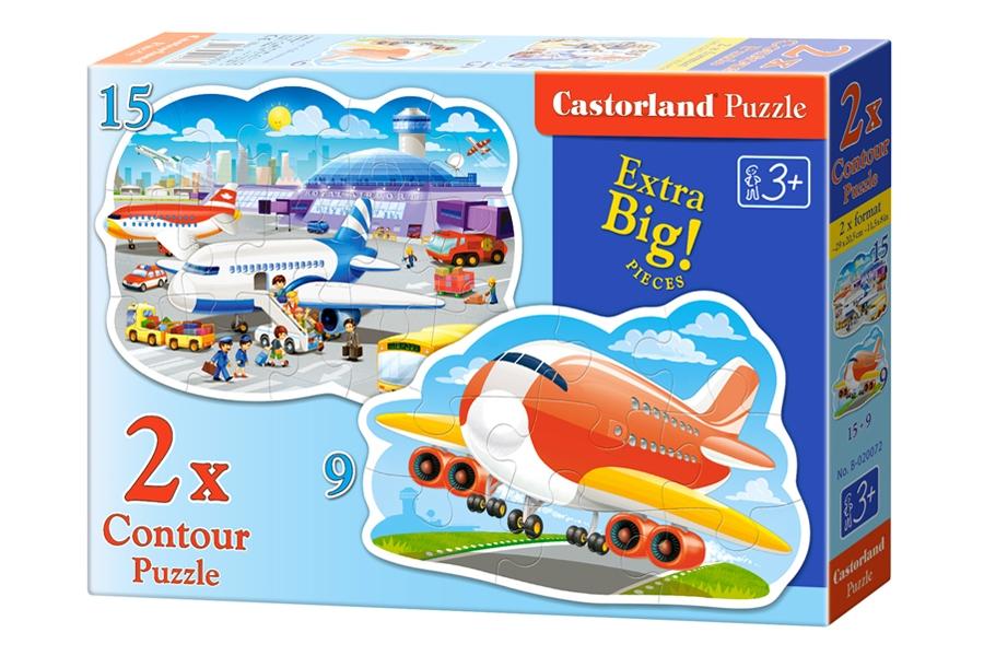 2 Puzzles - Airport Adventures Castorland