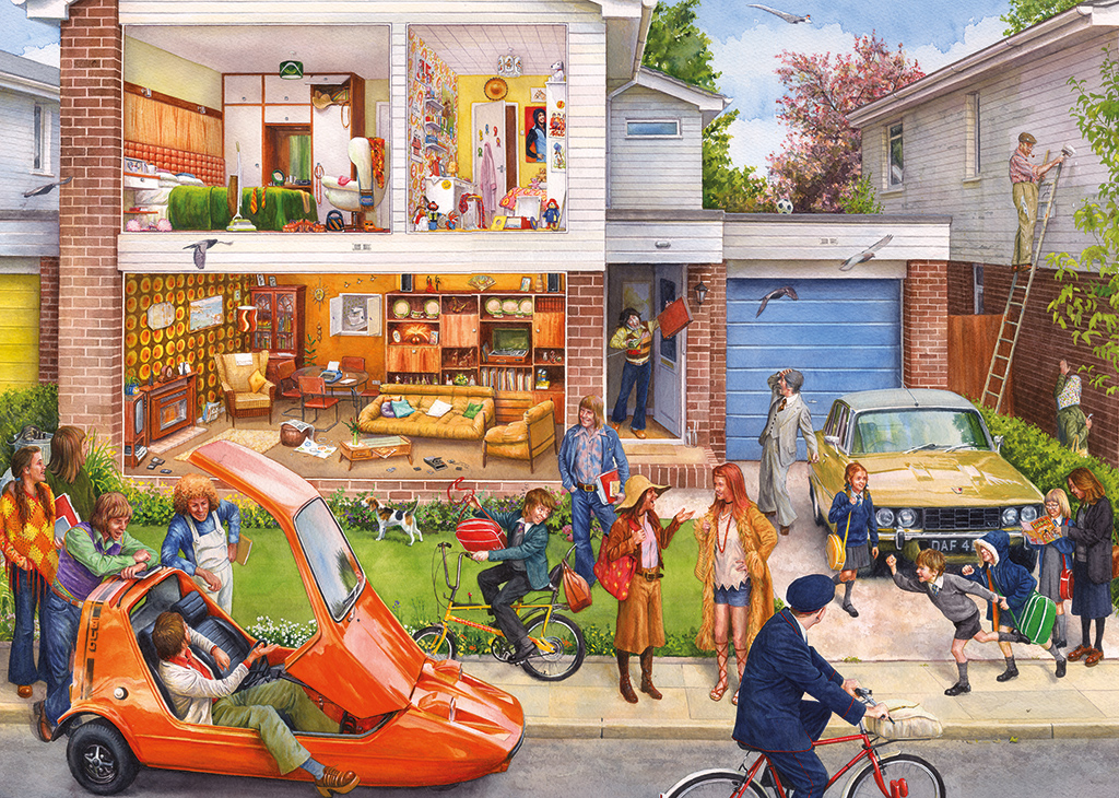 Puzzle Steve Noon: Memory Lane - Our House 1970s Gibsons
