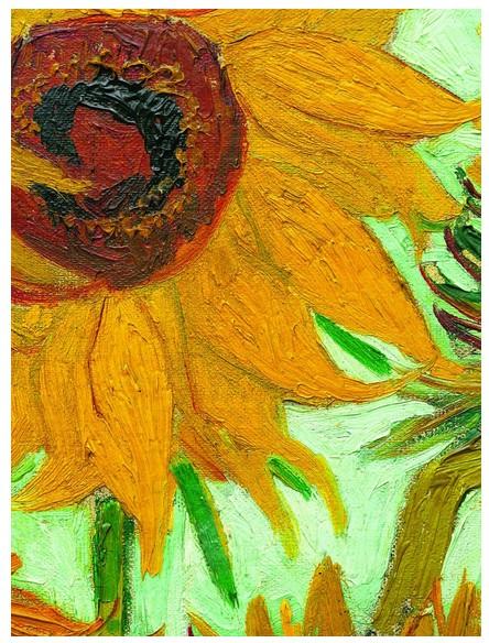 Puzzle Vincent Van Gogh : Vase avec Douze Tournesols (détail)