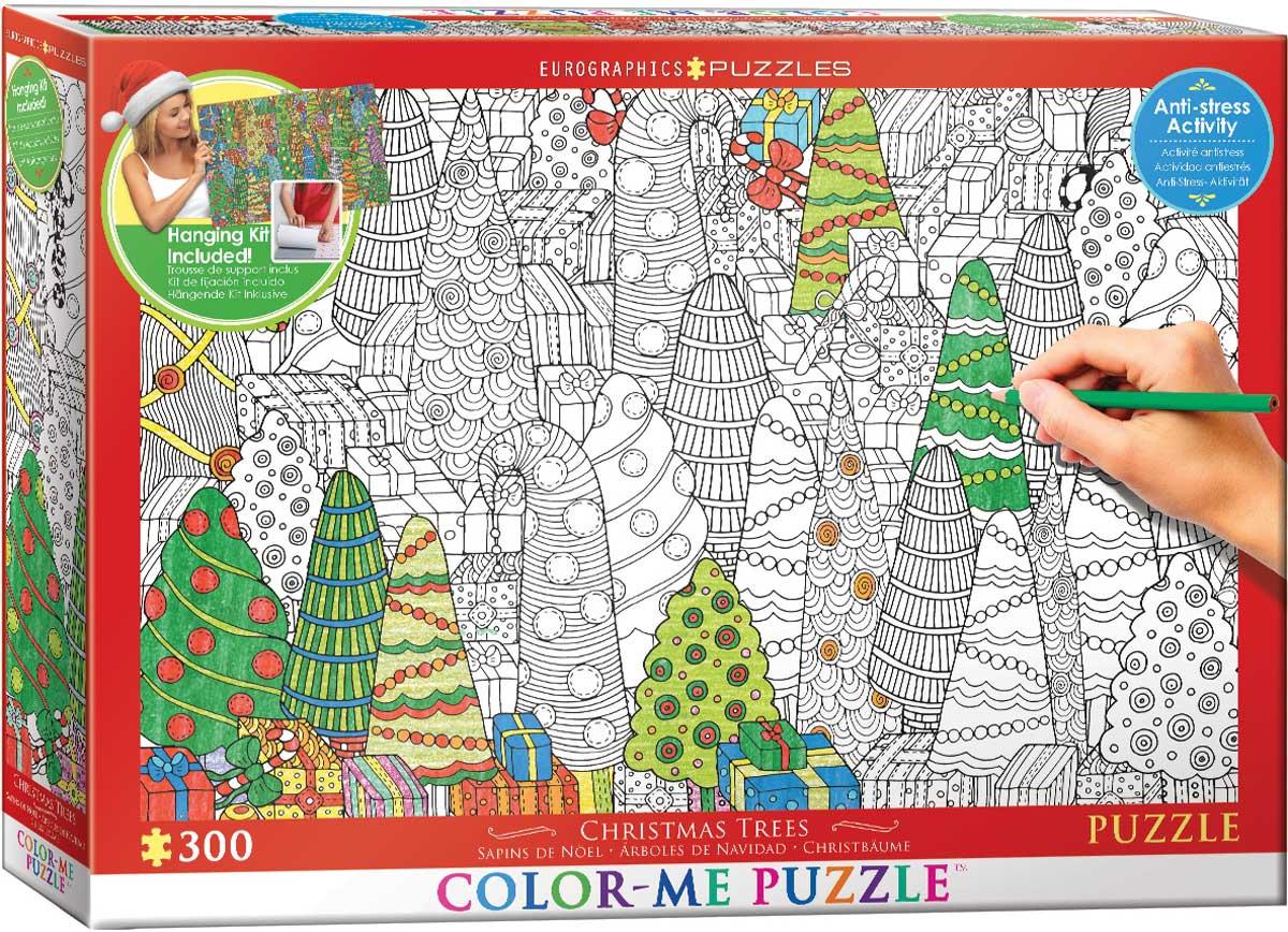 Puzzle Color Me XXL - Arbres de Noël Eurographics