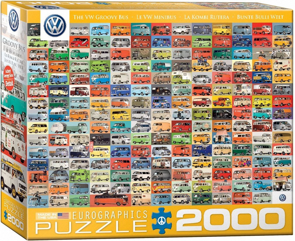 Puzzle Volkswagon Groovy Bus Collage Eurographics