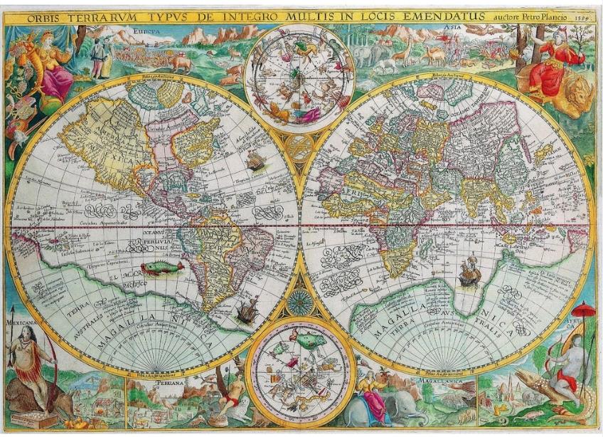 Puzzle Carte du monde de 1594 Puzzle Michèle Wilson