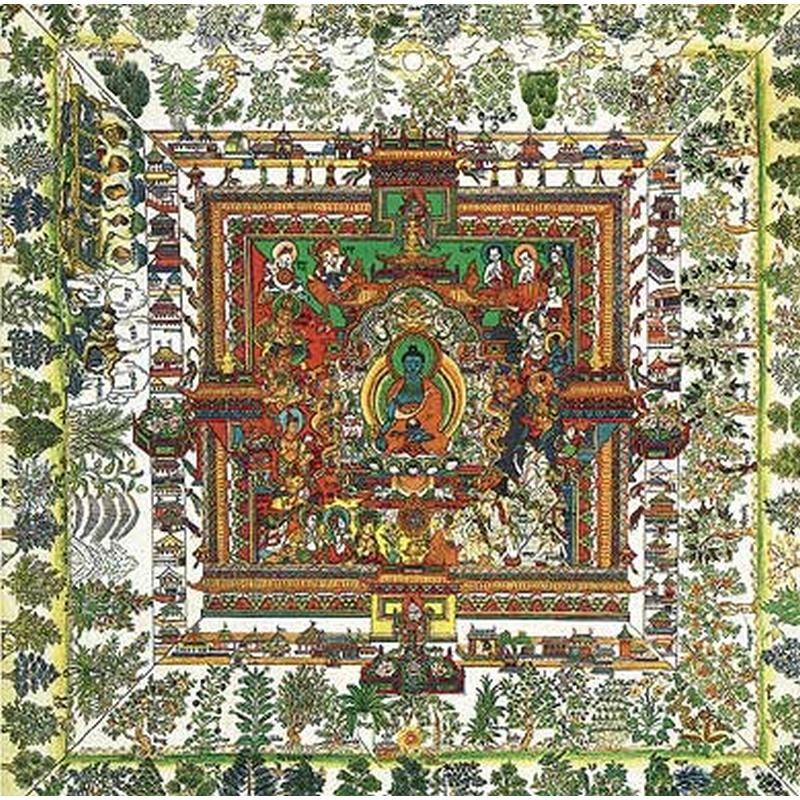 Puzzle Mandala de la Médecine : Art Tibétain Puzzle Michèle Wilson