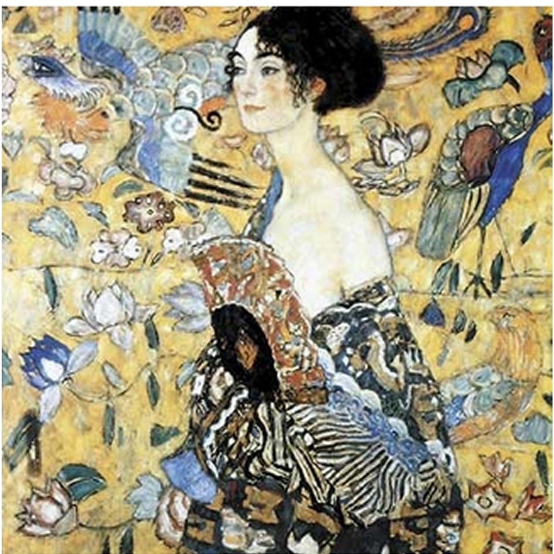 Puzzle Klimt : La dame à l´éventail Puzzle Michèle Wilson
