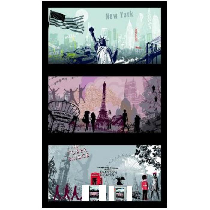 Puzzle Triptyque - Villes artistiques : Londres, Paris, New York