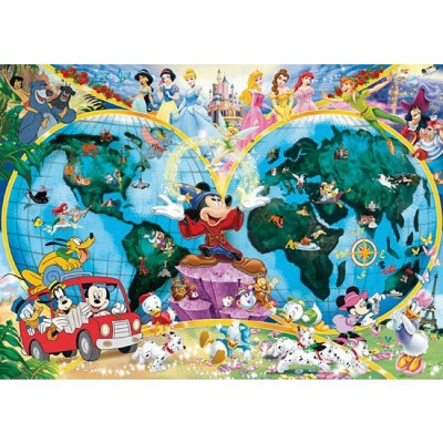 puzzle mappemonde le monde de disney ravensburger 15785 1000 pi ces puzzles cartes du monde. Black Bedroom Furniture Sets. Home Design Ideas