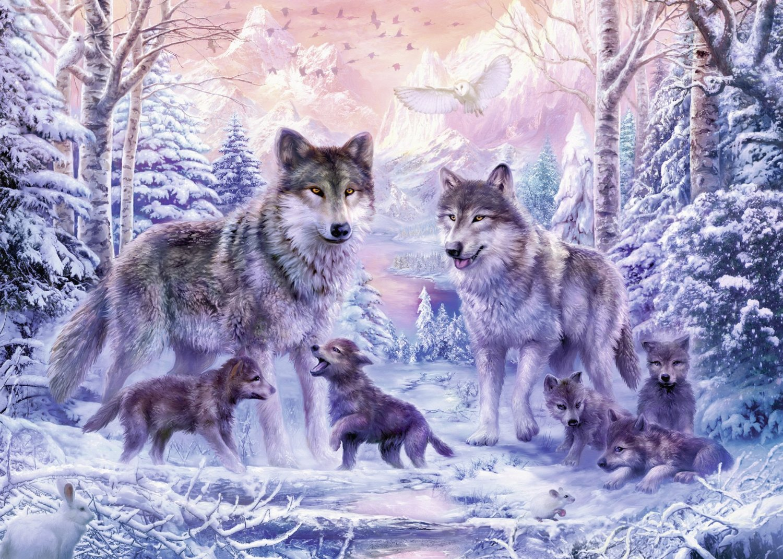 Puzzle Loups Arctiques Ravensburger