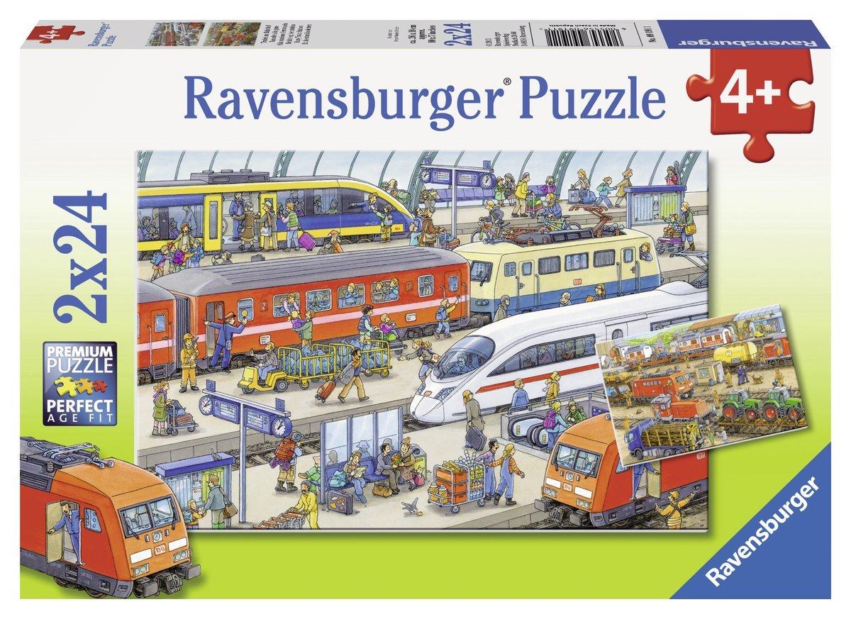 2 Puzzles - Agitation à la Gare Ravensburger