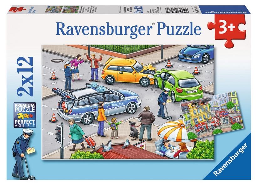 2 Puzzles - Accident de Voiture et Incendie Ravensburger