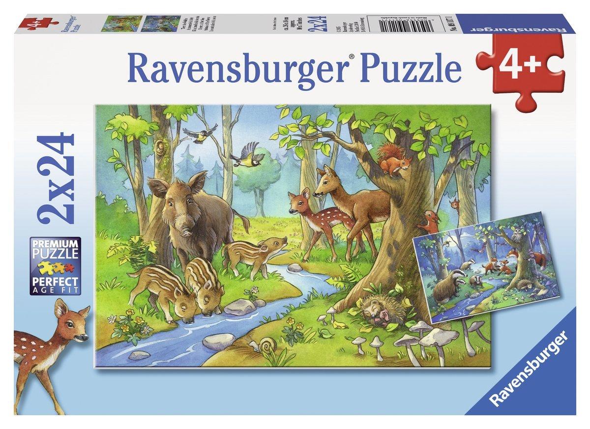 2 Puzzles - Animaux de la Forêt Ravensburger