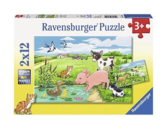 2 Puzzles - Animaux de la Ferme Ravensburger