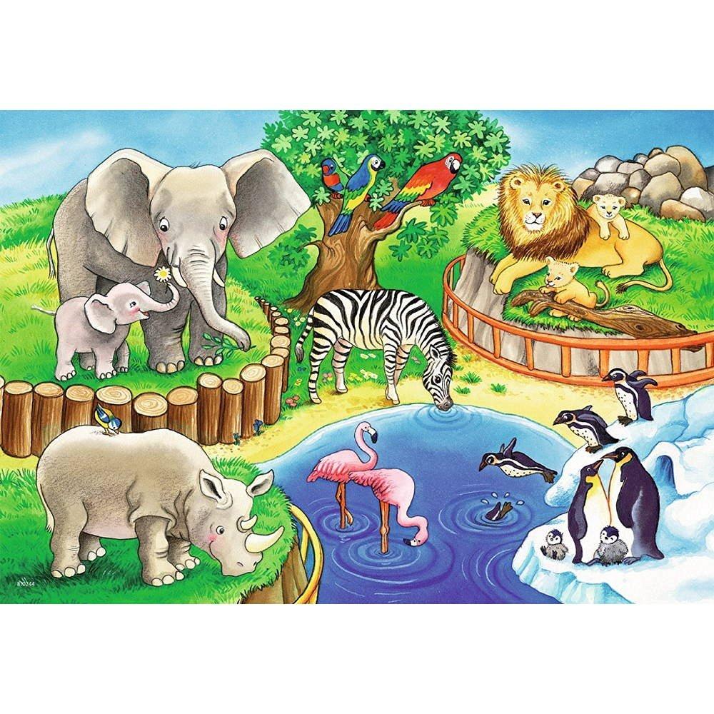 2 Puzzles - Animaux du Zoo Ravensburger