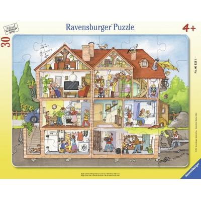 puzzle cadre regarde dans la maison ravensburger 06154. Black Bedroom Furniture Sets. Home Design Ideas