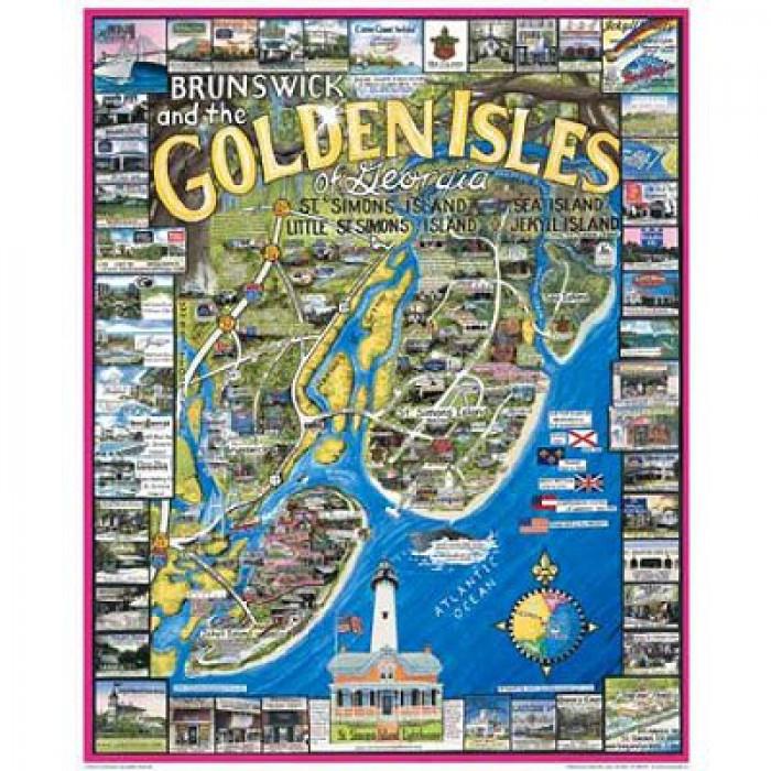 Puzzle Brunswick et les îles dorées, Georgie, USA White Mountain
